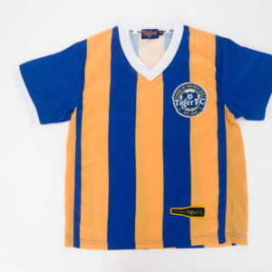 Tiger FC Blue-Yellow Striped Soccer Jersey