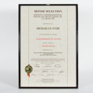 ABC Extra Stout (Can) Médaille d'Or, Monde Selection Certificate 1987