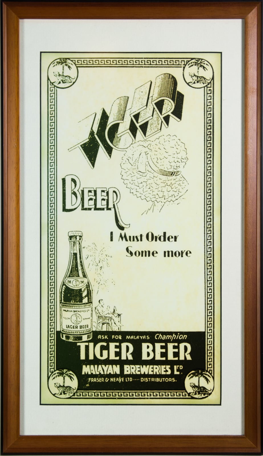 Tiger Beer Malayan Breweries Advertisement