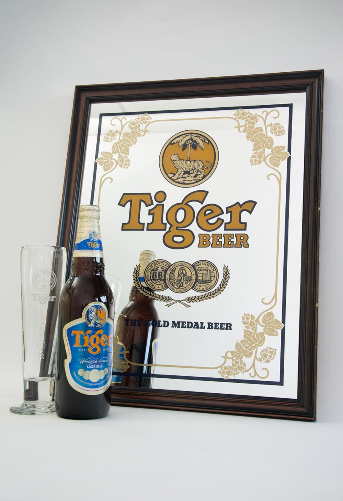 Tiger Beer: The Gold Medal Beer Mirror