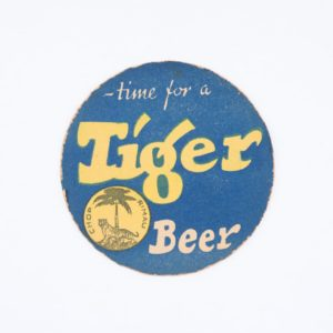 Time for a Tiger Beer Coaster